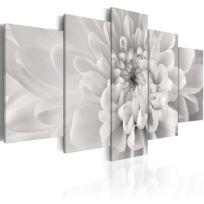 Artgeist - Tableau   Dahlia en gris   200x100   Xxl   Fleurs   Fleurs variées