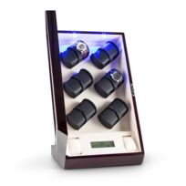Klarstein - Klingenthal Remontoir luxe 12 montres Led tactile - acajou