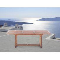 Beliani - Table de jardin - table en bois rectangulaire à rallonges - Toscana
