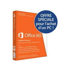 microsoft office 365 famille premium 5 pc ou mac abonnement 1 an carte d 39 activation pas. Black Bedroom Furniture Sets. Home Design Ideas