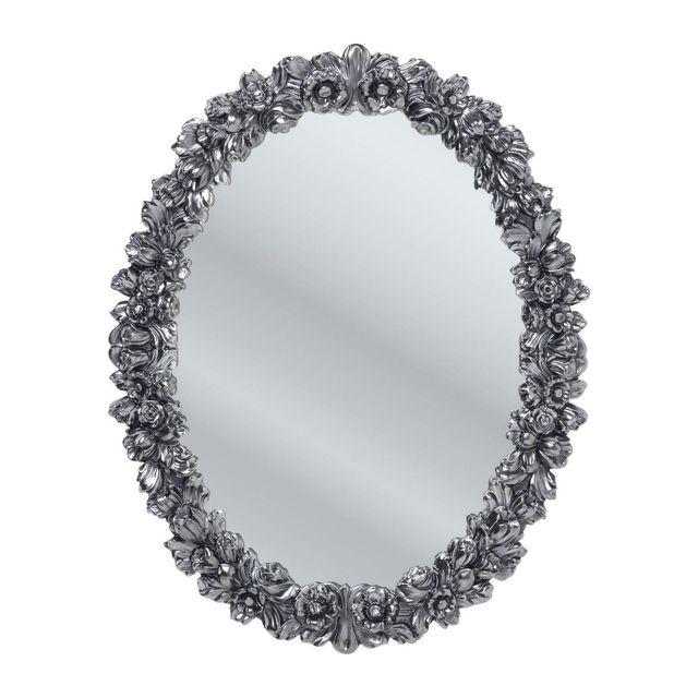 Karedesign Miroir Fiorellino chrome 74x94cm Kare Design