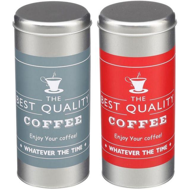 Promobo Lot De 2 Boites A Capsules Dosette Senseo Café Design Best Coffee Silver Couleur