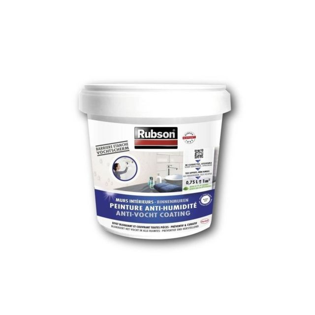 rubson peinture anti humidit interieurs blanc pas cher achat vente peinture ext rieure. Black Bedroom Furniture Sets. Home Design Ideas