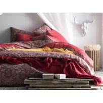 Essix - Housse de couette 100% percale de coton motif paisley ethnique réversible Idole - 240x220cmNC