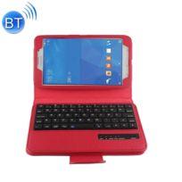 Wewoo - Clavier rouge pour Samsung Galaxy Tab 4 7.0 / T230 Séparable Litchi Texture Horizontal Housse en cuir Flip + Bluetooth avec support et Fonction Selfie