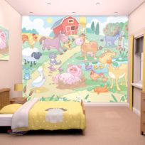 Walltastic - Papier peint bébé animaux de la ferme 305X244 Cm