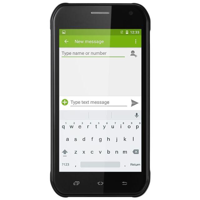 Auto-hightech Smartphone quad core, Android 5.1, 5.0 pouces, 3G, Gps - vert armé
