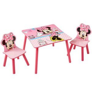 worlds apart ensemble table et 2 chaises minnie disney rose 10cm x 10cm non extensible. Black Bedroom Furniture Sets. Home Design Ideas