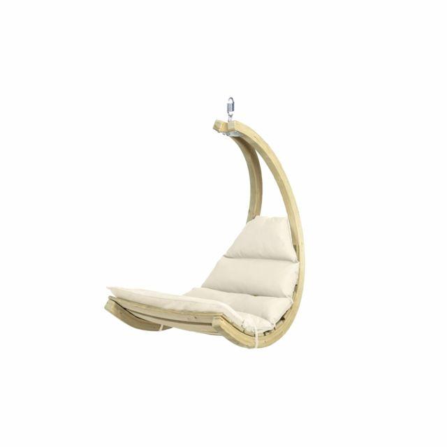 Amazonas Fat chair suspendu fauteuil Anthracite Gris Hängesitz Suspendu Chaise Intérieur Extérieur