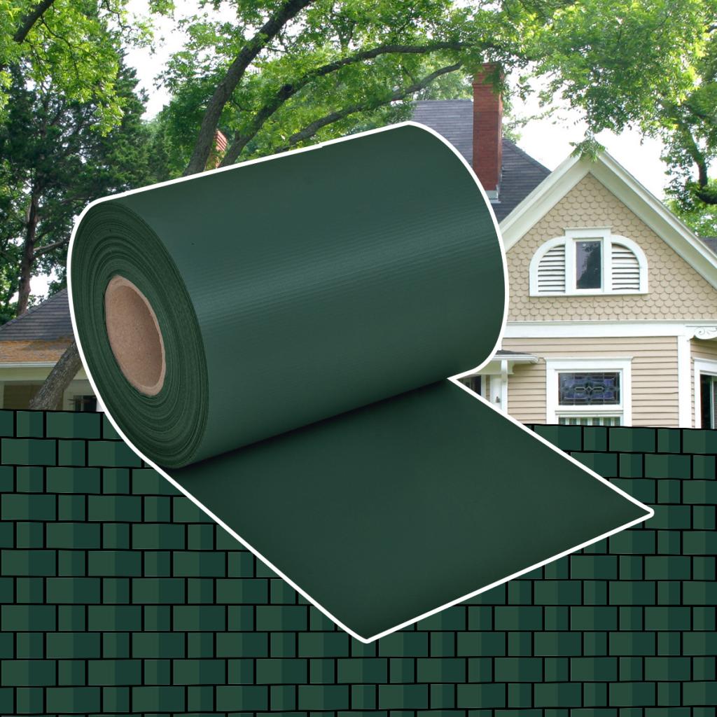 Rocambolesk - Superbe Brise-vue pour clôture en Pvc vert en rouleau 70 x 0,19 m Neuf