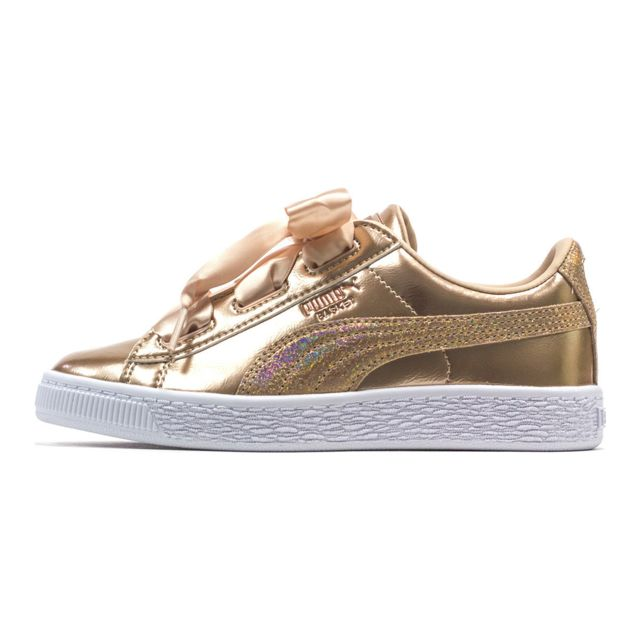 baskets puma suède heart lunar smoked rose pale