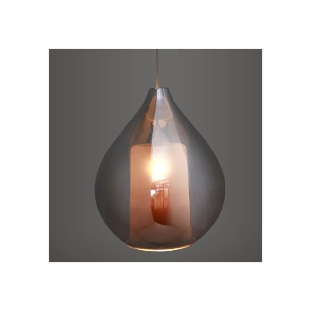 Concept Verre Lustre Suspension Circé Smoky
