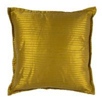 Mon Beau Tapis - Coussin jaune or 40x40cm MystÈRE