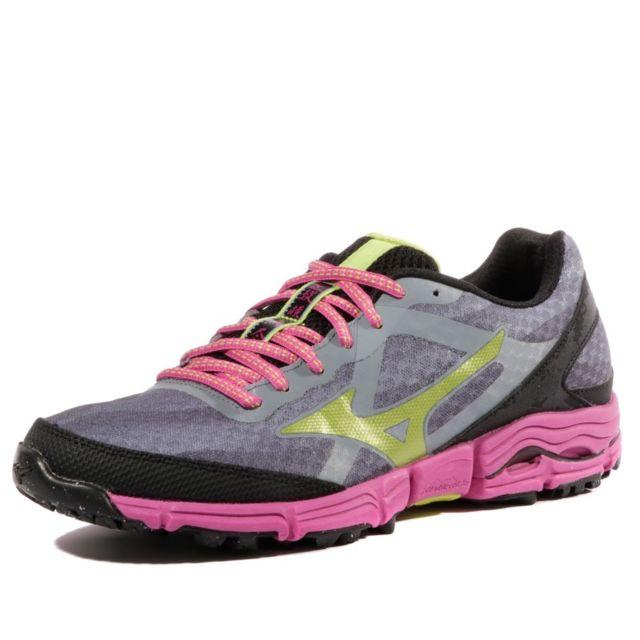 d844f0d4b7e Mizuno - Wave Mujin W Dgp - Chaussures Trail Femme Gris 38.5 - pas cher  Achat   Vente Chaussures running - RueDuCommerce