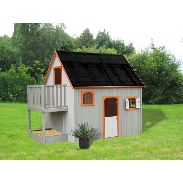 soulet maisonnette bois duplex pas cher achat vente. Black Bedroom Furniture Sets. Home Design Ideas