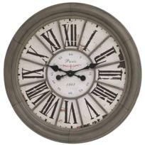 Chemin De Campagne - Grande Horloge Murale Horloge de Gare Industrielle Campagne 76 cm