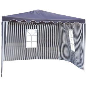 carrefour tonnelle 3x3 m acier bleu et blanc pas cher achat vente tentes de. Black Bedroom Furniture Sets. Home Design Ideas