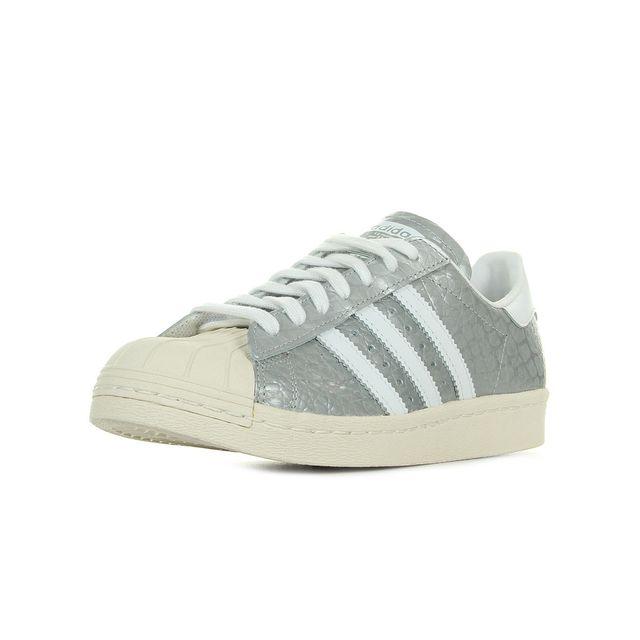 Adidas originals - Superstar W Argent, Blanc - 38 2 3 - pas cher ... e3f63c20e58a