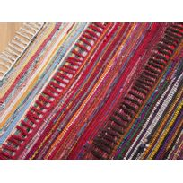 Beliani - Tapis rectangulaire en coton - tapis design multicolore - foncé - 80x150 cm - Danca