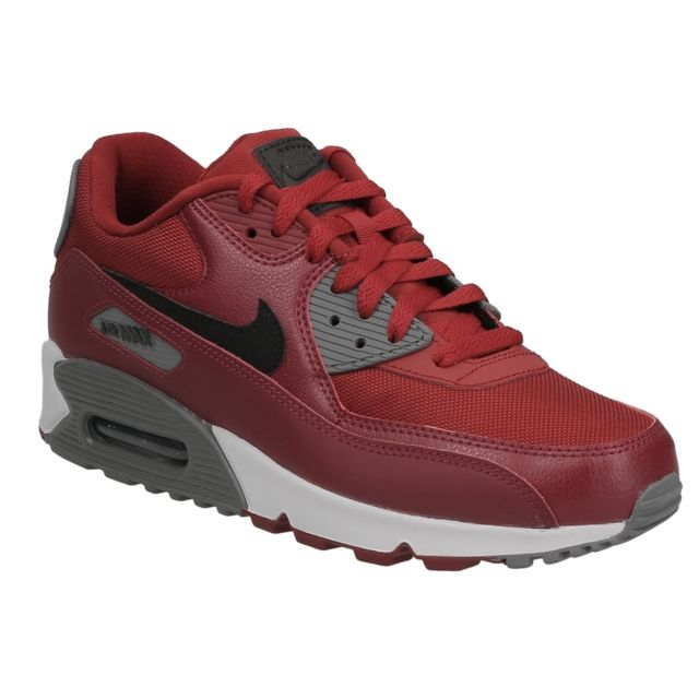 detailed look 2dc75 b16ee Nike - Nike Air Max 90 essential gym red black noble red 537384 606.  Description  Fiche technique. Basket ...