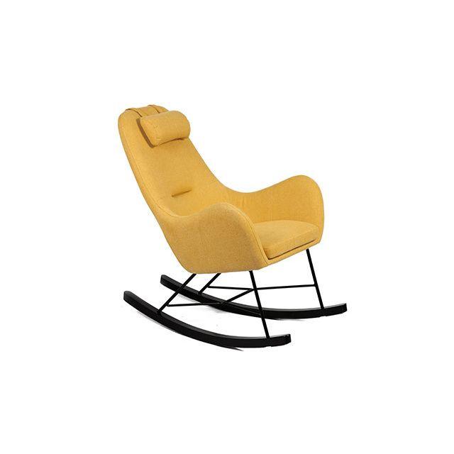 Rocking chair jaune - Anselme