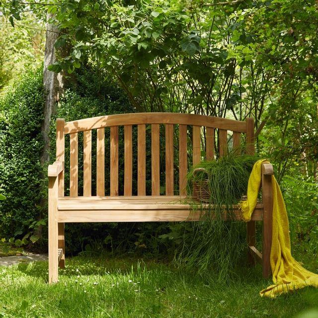 Bois Dessus Bois Dessous - Banc en bois de teck 120 60cm x 120cm ...