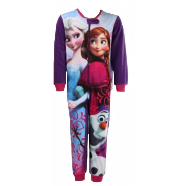 f97727cf5d492 Npz - Mode fille. Description  Fiche technique. Pyjama polaire grenouillère La  reine des neiges ...