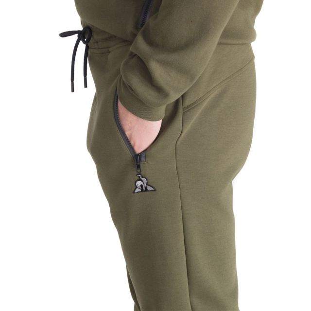 Le Coq Sportif - Pantalon survêtement kaki