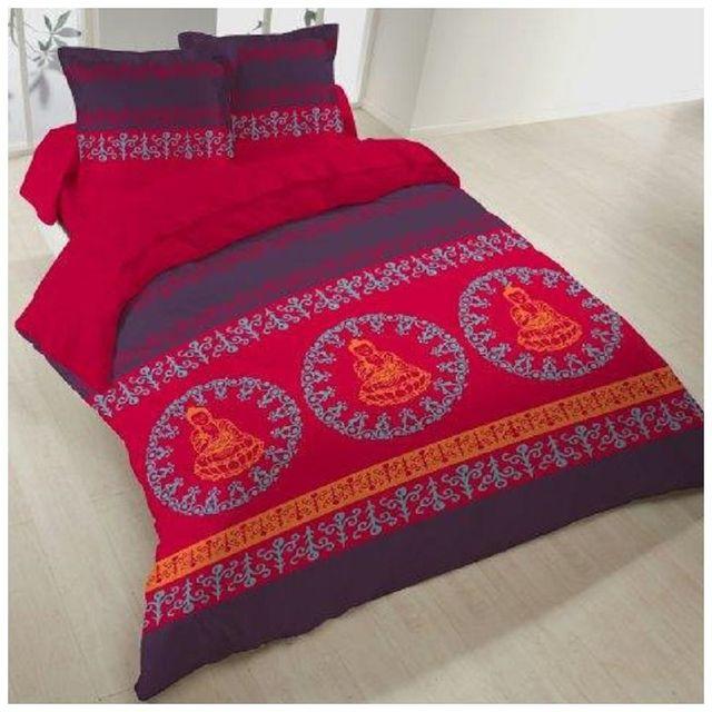 linge usine housse de couette 200x200 cm 2 taies bou pas cher achat vente housses de. Black Bedroom Furniture Sets. Home Design Ideas