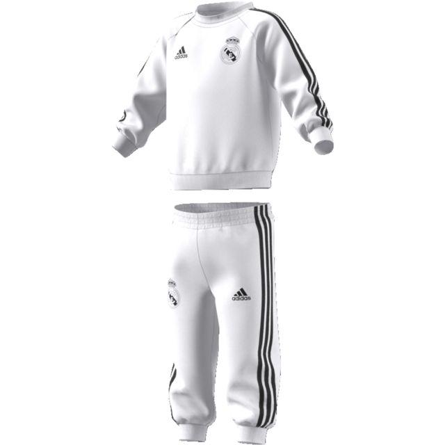 c537992b95180 Adidas - Survêtement baby Real Madrid 2018 19 blanc noir - pas cher ...