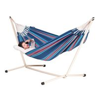 La Siesta - Hamac double Currambera blueberry + Support pour hamac double Neptuno