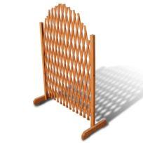 Barrière en bois extensible 180 x 100 cm | Brun