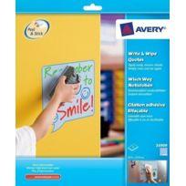 Avery - 24909 - Feuilles adhésives repositionnables - 4 pièces - Polypro - Forme Citation - Bleu