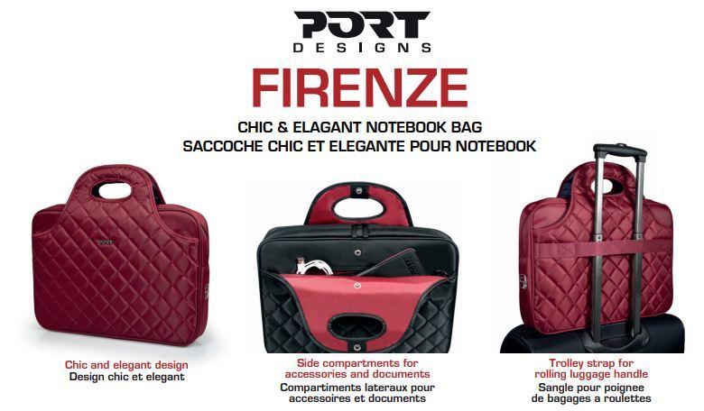 Sacoche ''Firenze TL'' pour ordinateur portable 15.6'' - Carmin