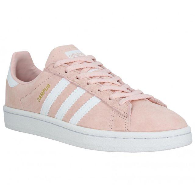 new style 131c5 f1554 Adidas - Campus velours Femme-39 13-Rose - pas cher Achat  Vente Baskets  femme - RueDuCommerce