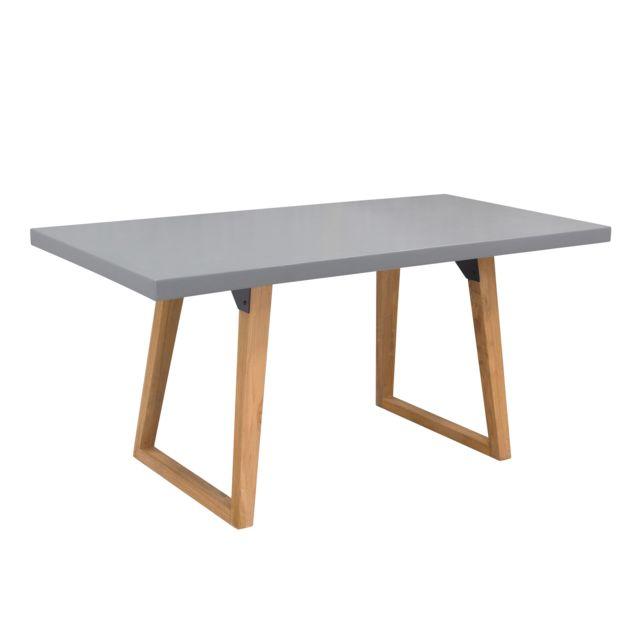 Rendez Vous Deco Table rectangulaire Bétina 160 cm en béton