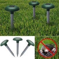 IDMARKET - Chasse taupe solaire anti-taupe et rongeur de jardin x3 pcs