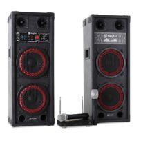Electronic Star - Set Karaoké Star-köpenick Enceintes Pa Micros Sans Fil 800W