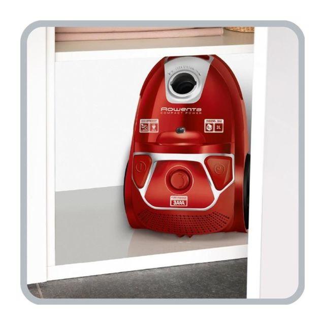 ROWENTA RO3953 Avec sac - 750W - 79 dB (A) - Classe d'efficacité A - Consommation d'énergie annulle (kW / h / an) 28 - Débit d'iar (dm3s) 27 - Pression négative (kPa) 19 kPa - émission de poussieres A -Tapis de ramassage