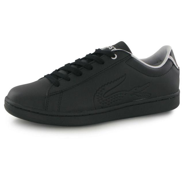fbfde4161b Lacoste - Carnaby Evo 116 1 noir, baskets mode mixte - pas cher Achat /  Vente Baskets enfant - RueDuCommerce
