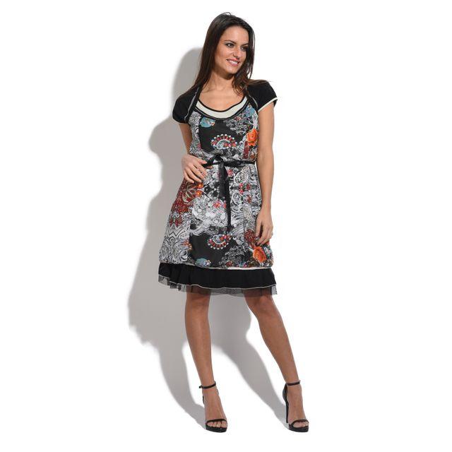 L33 - Robe Dana Noir - pas cher Achat   Vente Robes - RueDuCommerce 48c2e02630e