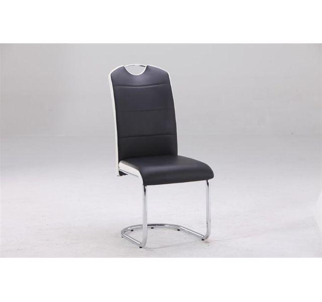 CHLOE DESIGN Chaise design POTHIN - Par 4 - Noir et blanc