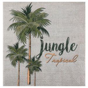 1001DECOTABLE - 20 Serviettes en papier Jungle Tropicale