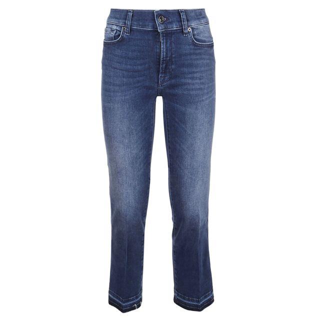 7FORALLMANKIND 7 For All Mankind Femme Jsyru580ININTEGRITY Bleu Coton Jeans