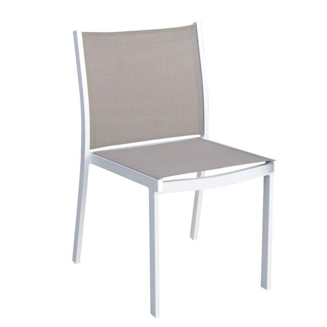 Aluminium design Chaise en de Panama jardin ikTOZXPu