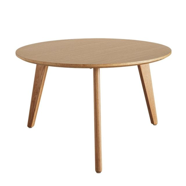 Inside 75 Table basse design scandinave Nordic taille L coloris chêne clair