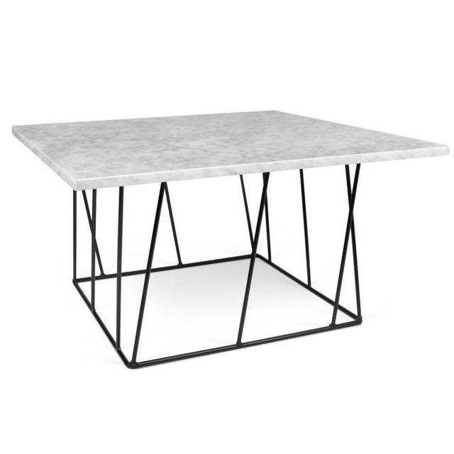 Inside 75 Table basse carrée Helix 75 en marbre