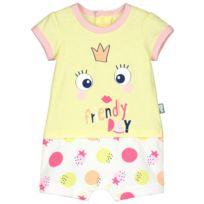 7db61a133654c Petit Beguin - Combishort bébé fille Mini Party - Taille - 9 mois