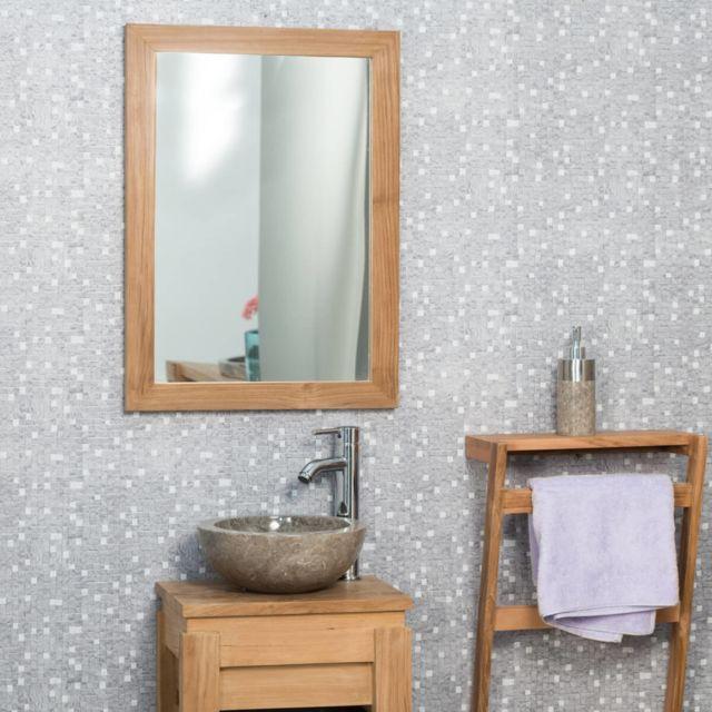 Wanda Collection Miroir rectangle en teck massif 70x50