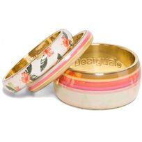 Desigual Bijoux - Bracelet Polynesia 73G9ED1-3000 - Bracelet Trio Rose Motifs Femme
